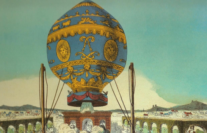 First hot-air ballon