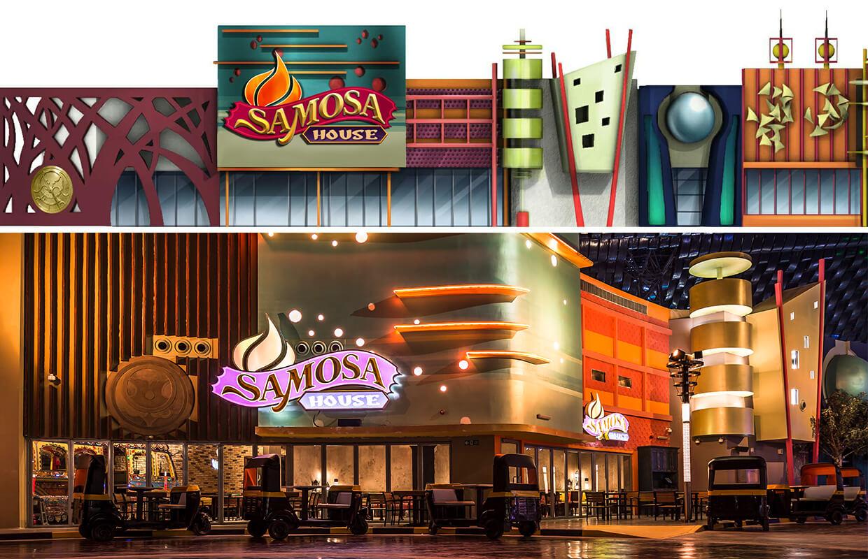 萨莫萨屋餐厅立面图